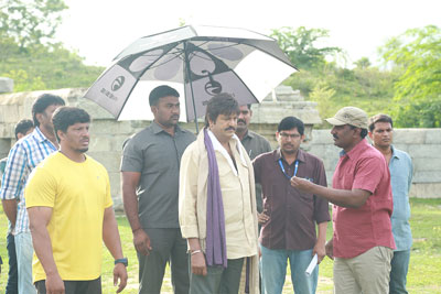 Gayatri Working Stills