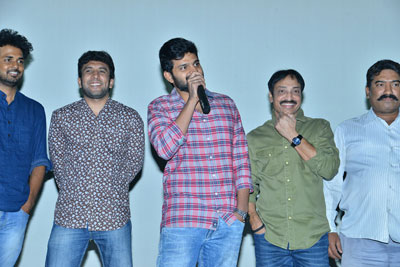 Mental Madilo Movie Team at Sandhya Theater