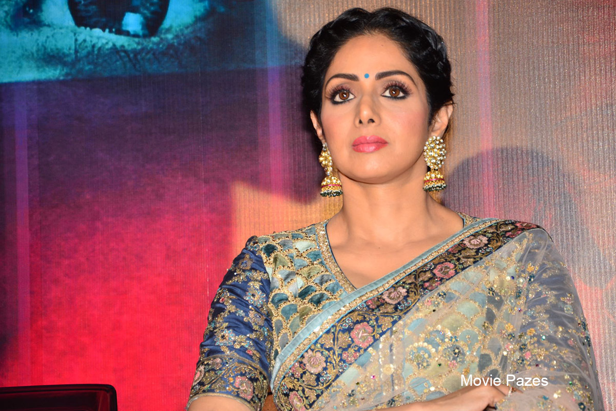 Sridevi at Mom Movie Trailer Launch
