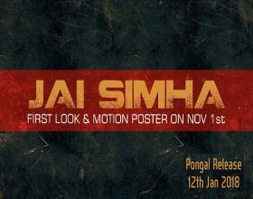 Jai Simha first look and release date