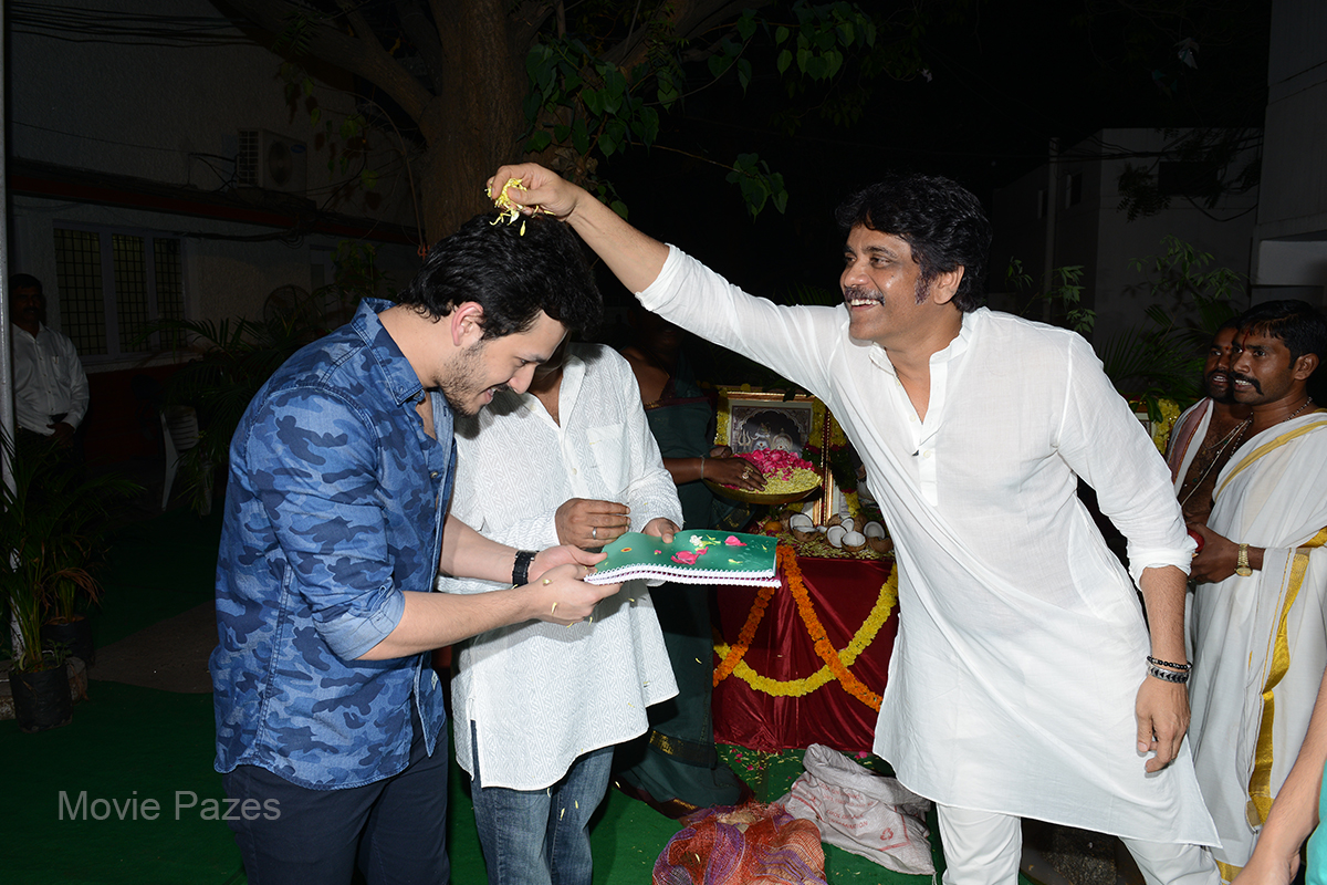 Akhil Second Movie Opening Images