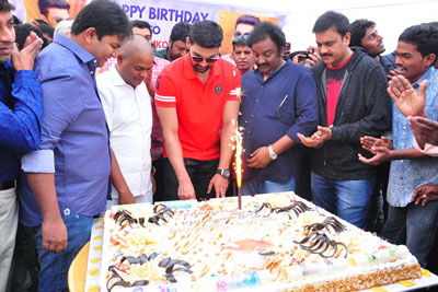 Bellamkonda Sai Srinivas birthday celebrations Stills