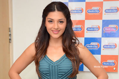 Mehreen at Radio City For Raja The Great Song Launch