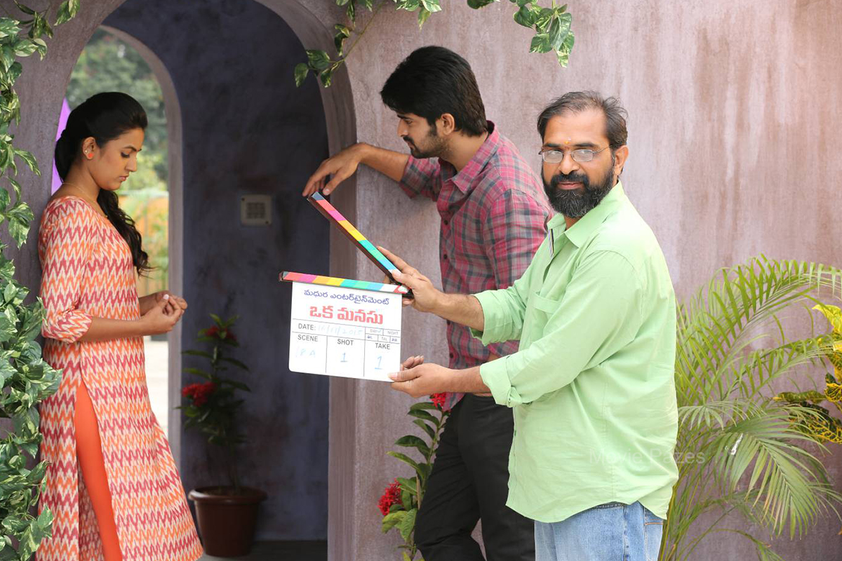 Oka Manasu Movie Working Stills