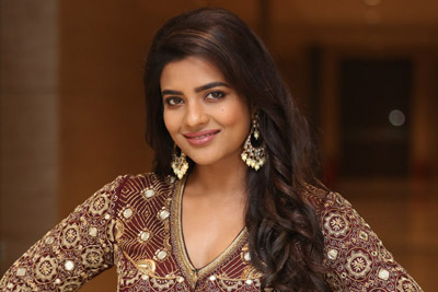 Aishwarya Rajesh stills At World Famous Lover Pre Release Event