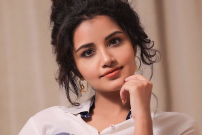 Anupama Parameswaran Latest Stills In Blue Dress