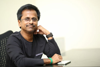 AR Murugadoss Stills At Interview About Darbaar