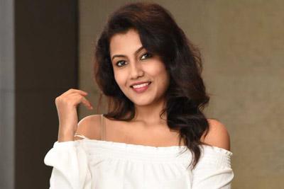 Chandana Stills at Kurukshetram Pre Release Event