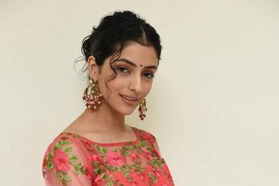 Diksha Sharma Raina at Subhalekha + Lu Pre Release Event
