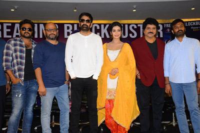 Disco Raja Movie Team Success Meet Event