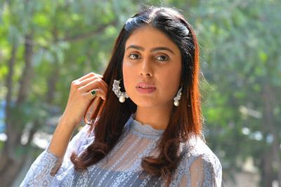 Irra Mor Stills At Interview About Bhairava Geetha