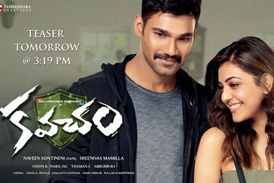 Kajal and Bellamkonda Srinivas Poster of Kavacham
