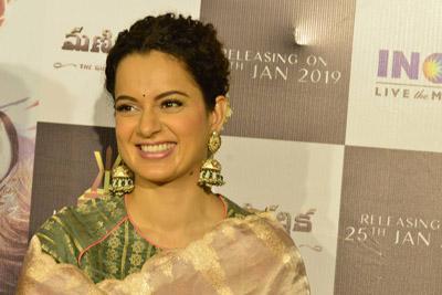 Kangana Ranaut at Manikarnika Movie Teaser Launch Event
