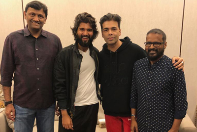 Karan Johar Team Met Dear Comrade Team