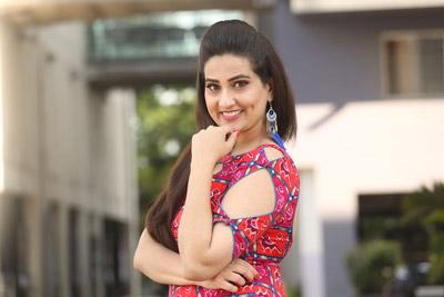 Manjusha at Chanakya Movie Trailer Launch Event