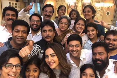 Manmadhudu 2 Movie Team on Sets