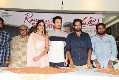 Mr. Majnu Movie Team At Theatres