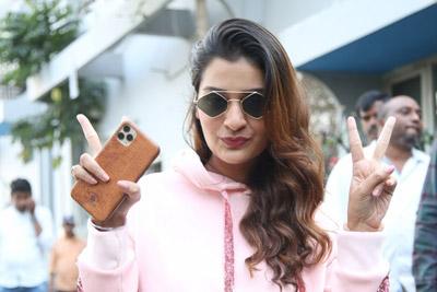 Payal Rajput At Venky Mama Movie Team Success Celebrations