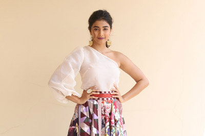 Pooja Hegde at Maharshi Movie Team Success Meet