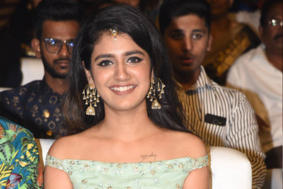 Priya Prakash Varrier at Lovers Day Movie Audio Launch Event