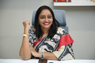 Producer Usha Mulpuri Stills At Interview About Ashwathama