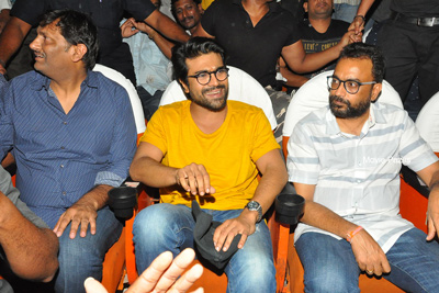 Ram Charan at Sudharshan Theatre For Rangasthalam