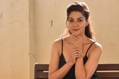 Sakshi Chaudhary at Suvarna Sundhari Pre Release Event