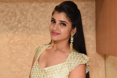 Shyamala Stills at Natakam Pre Release Event