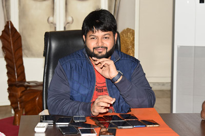 Thaman Stills at Interview For Aravinda Sametha