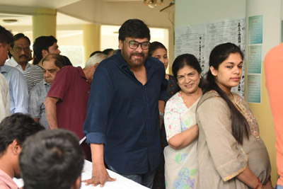 Tollywood Celebrities Casted There Vote Successfully