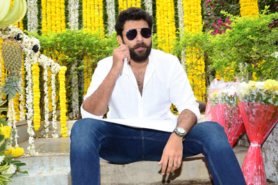 Varun Tej at Valmiki Movie Opening Event
