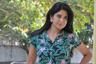 Yagna Shetty at Lakshmi's NTR Movie Team Interview