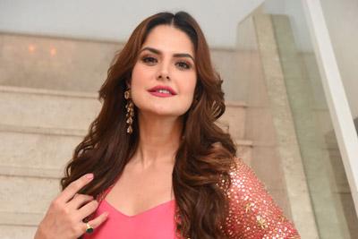 Zareen Khan at Chanakya Movie Trailer Launch Event