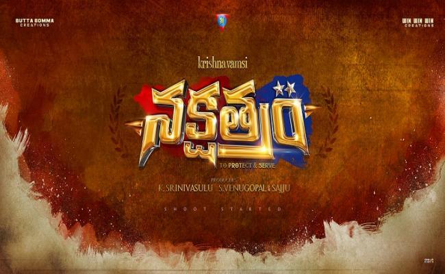 Krishna Vamsi New Movie Nakshatram