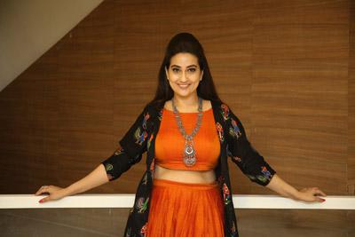 Manjusha at Chitralahari Movie Team Success Celebration