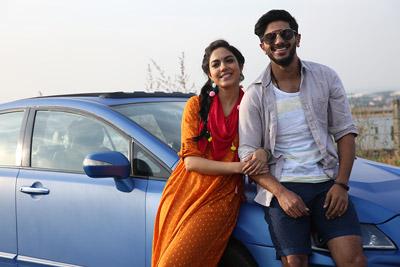 Ritu Varma and Dulquer Salmaan stills From Kanulu Kanulanu Dochayante