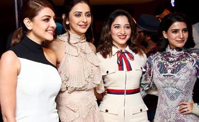Tollywood Beauties in One Frame