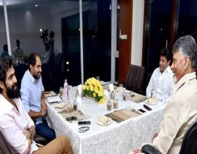 Krish, Balakrishna and Rana Met CBN for NTR Biopic